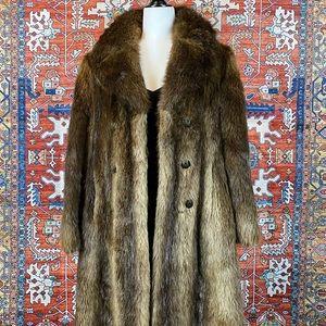 Jackets & Blazers - Vintage Beaver Fur Coat